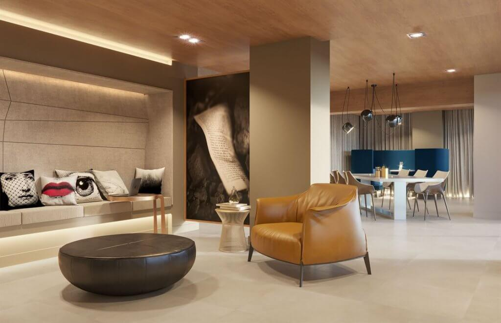 Coworking by Cyrela Rio by Yoo has a design signed by the international Studio Yoo.
