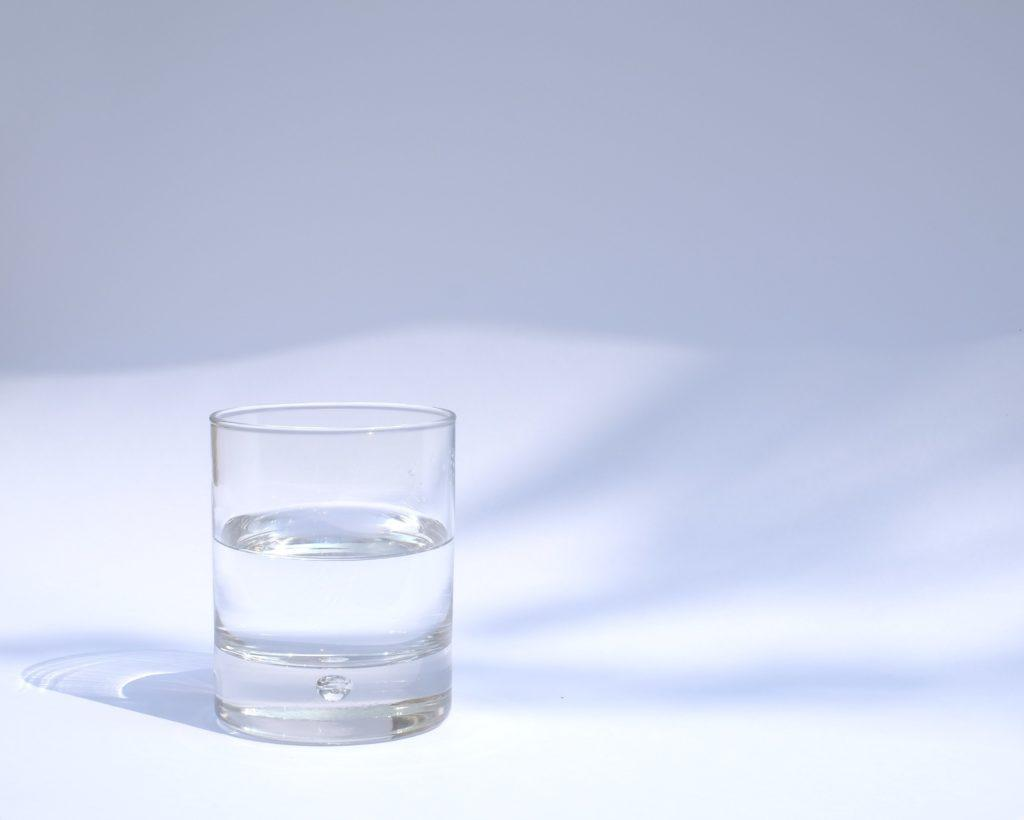 Glass of water, combined with vinegar and unpleasant odors.