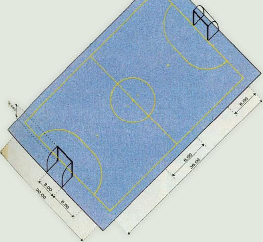 Indoor football court, also known as futsal court. The size of the futsal court makes it easy to practice, even though it is a smaller size than a small futsal court.