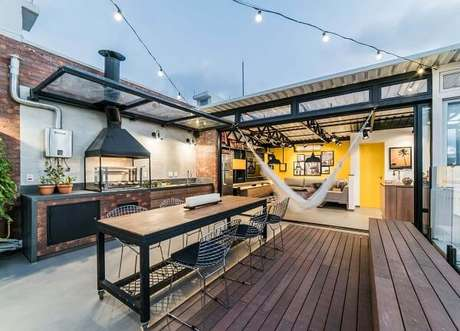 Industrial Style Outdoor Barbecue