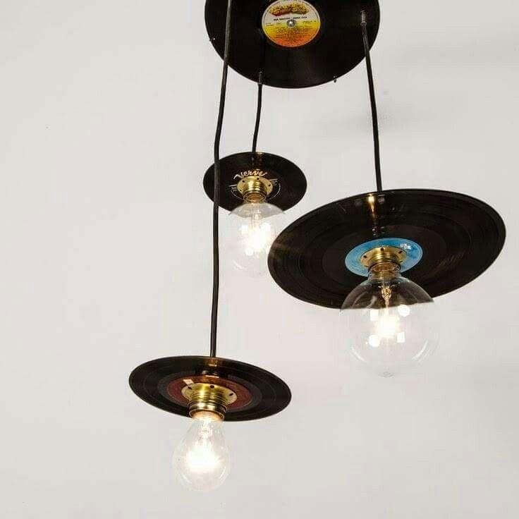 LP's as decoration in lighting.