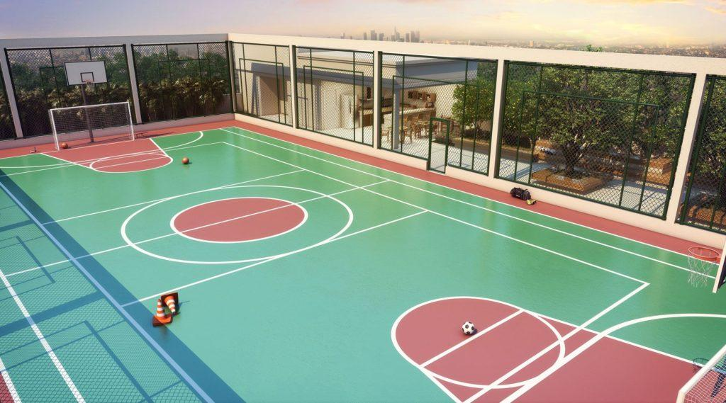Sports court, its measurements, colors and size. In addition, the indoor multi-sport court can also have specific measures.