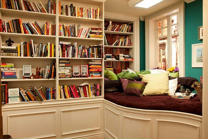 The library at home should prioritize comfort in the room.