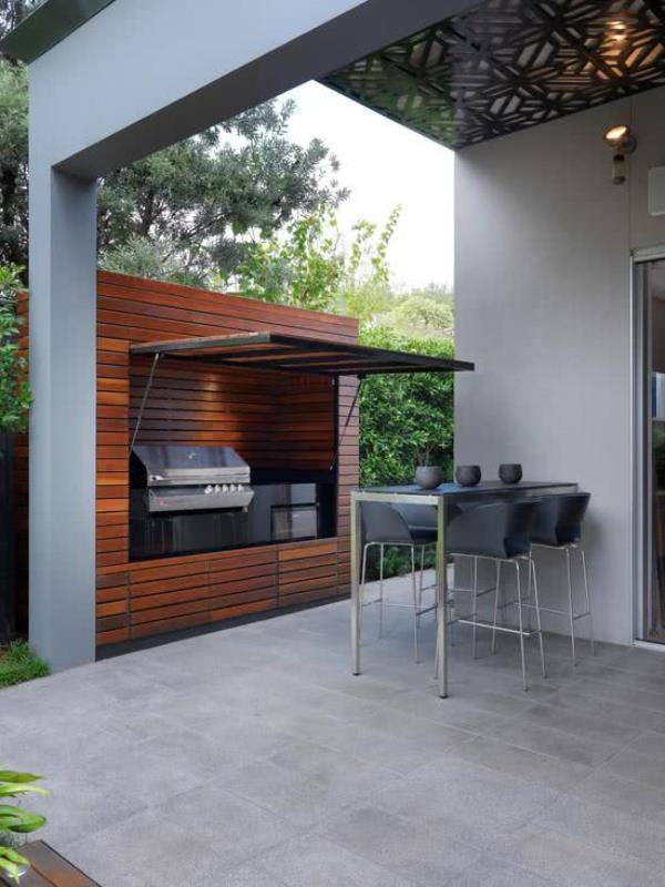 wood barbecue